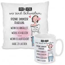 Kissen oder Tasse: DU und ICH, wir sind Schwestern...