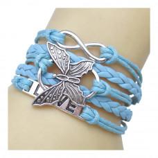 Unendlichkeits Armband Modell: Schmetterling - türkis