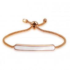 Damenarmband mit Perlmutt Applikation - gold