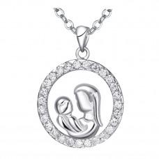 Halskette silberfarben Modell: Mutter mit Kind