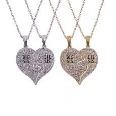 Halskette mit Strass Steinen - Big Sis - Lil Sis