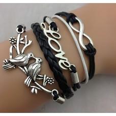 Unendlichkeits Armband Modell: Vögel - Love - Infinity