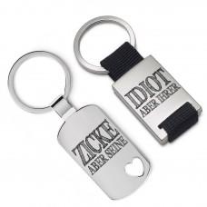 Metall Schlüsselanhänger - Der Idiot und seine Zicke