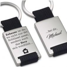 Schlüsselanhänger Zuhause ist wo nicht nur der Schlüssel passt sondern das Herz sich wohlfühlt