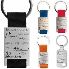 Metall Schlüsselanhänger - Es gibt viele Mamas / Papas ... ich habe mit Abstand die/den Beste/Besten