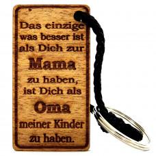 Gravur Familien Schlüsselanhänger aus Holz Modell: Das einzige was besser ist ...