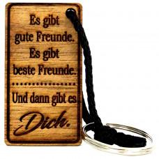 Gravur Schlüsselanhänger aus Holz Modell: Es gibt gute Freunde. Es gibt beste Freunde ...