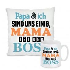 Kissen oder Tasse: Mama ist der Boss