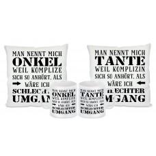 Tasse mit Motiv - Schlechter Umgang - Tante & Onkel