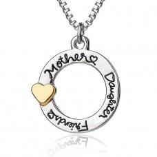 """Halskette mit Anhänger """"Mother, daughter, friend"""""""