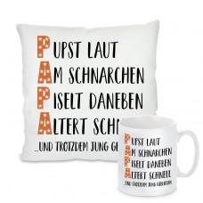 Kissen oder Tasse: PAPA mit lustiger Definition