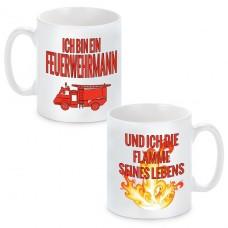 """Partnertassen """"Der Feuerwehrmann und seine Flamme"""""""