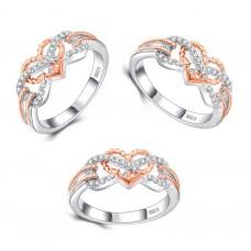 Versilberter Ring, Damenring, Verlobungsring