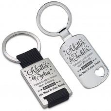 Schlüsselanhänger: Ein Herz und eine Seele (Mutter - Tochter / Sohn)