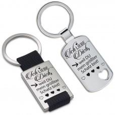 Schlüsselanhänger: Ich liebe dich, weil Du mein größter Schatz bist!
