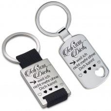 Schlüsselanhänger: Ich liebe dich, weil ich nicht mehr ohne Dich kann!