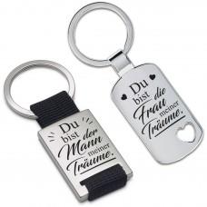 Metall Schlüsselanhänger - Du bist der Mann / die Frau meiner Träume