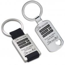 Metall Schlüsselanhänger - Du hast etwas Charmantes, Schönes & Einzigartiges ...