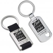 Metall Schlüsselanhänger - Mein Lieblingsplatz auf dieser Welt, ist neben dir!