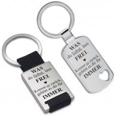 Metall Schlüsselanhänger - Was du liebst, lass frei!