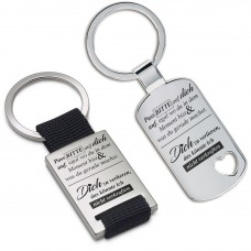 Metall Schlüsselanhänger - Pass BITTE auf dich auf ...