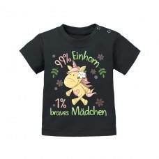Kinder T-Shirt Modell: 99% Einhorn - 1% Braves Mädchen!