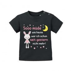 Babyshirt - Modell: So müde wie heute...
