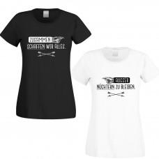 Damen-Funshirts in Schwarz oder Weiß - Zusammen schaffen wir alles...