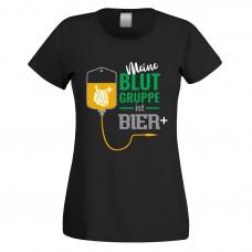 Funshirt weiß oder schwarz, als Tanktop oder Shirt - Meine Blutgruppe ist Bier positiv.