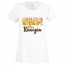 Funshirt weiß oder schwarz, als Tanktop oder Shirt - Bierkönigin