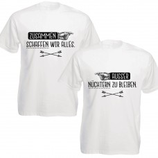Herren-Funshirts in Schwarz oder Weiß - Zusammen schaffen wir alles...