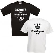 Shirts zum Junggesellenabschied - Bräutigam Security - individualisierbar