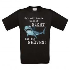 Funshirt weiß oder schwarz, als Tanktop oder Shirt - Geh mir heute besser nicht auf die Nerven!