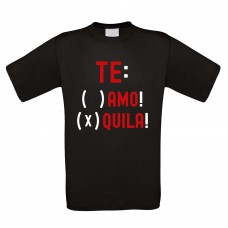 Funshirt weiß oder schwarz - als Tanktop, oder Shirt - TE: AMO! TE: QUILA!