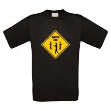 Funshirt weiß oder schwarz, als Tanktop oder Shirt - Watch for...