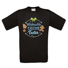 Funshirt weiß oder schwarz, als Tanktop oder Shirt - Weihnachtsplätzchen Tester.