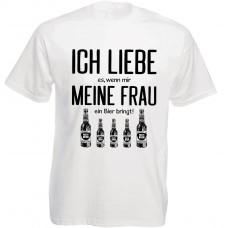Funshirt weiß oder schwarz, als Tanktop oder Shirt - Ich liebe es...