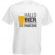 Funshirt weiß oder schwarz, als Tanktop oder Shirt - Hallo Bier, tschuess Probleme!