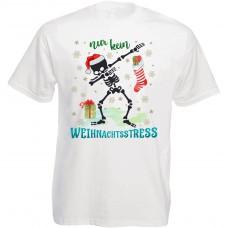 Funshirt weiß oder schwarz, als Tanktop oder Shirt - Nur kein Weihnachtsstress!