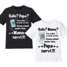 Kindershirt: Hallo? Mama / Papa?