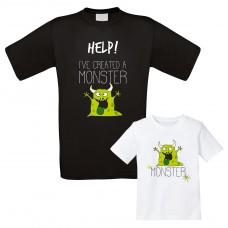 Familienshirts weiß oder schwarz - I created a monster