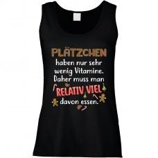 Funshirt weiß oder schwarz, als Tanktop oder Shirt - Plätzchen