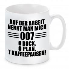 Tasse mit Motiv - Auf der Arbeit nennt man mich 007
