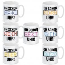 """Tasse mit Motiv - OH! SCHON """"Wunschmotiv"""" UHR"""