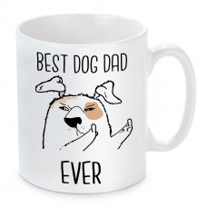 Tasse Modell: Best Dog Dad Ever.