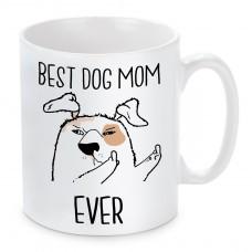 Tasse Modell: Best Dog Mom Ever.