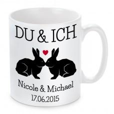 Kissen oder Tasse: Du & Ich (personalisierbar)