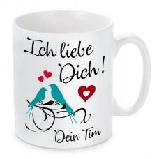 Tasse: Ich liebe Dich (personalisierbar)