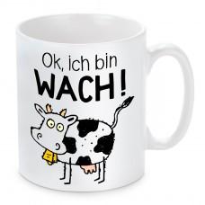 Tasse mit Motiv - Ok, ich bin wach!