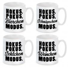 Tasse mit Motiv - Hokus, Pokus - Modus.